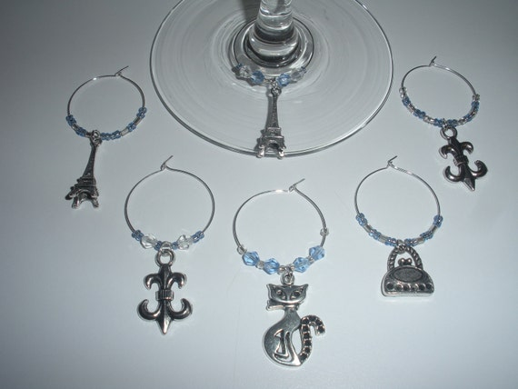 "Wine Charms- ""Juliette"" Paris"