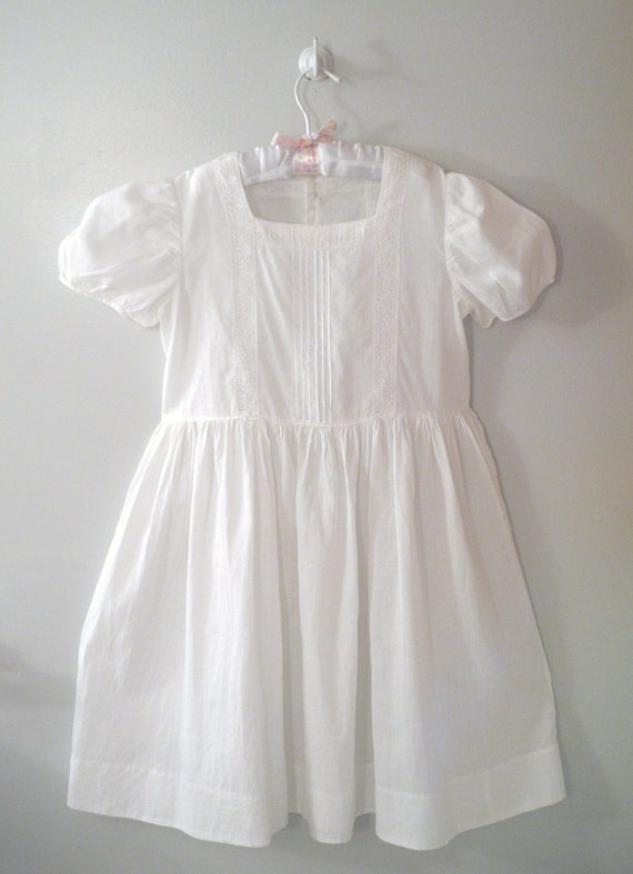 1930's White Lace Party Dress