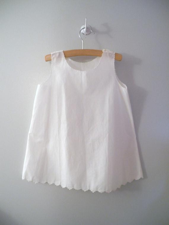 1930's Handmade White Scalloped Petticoat