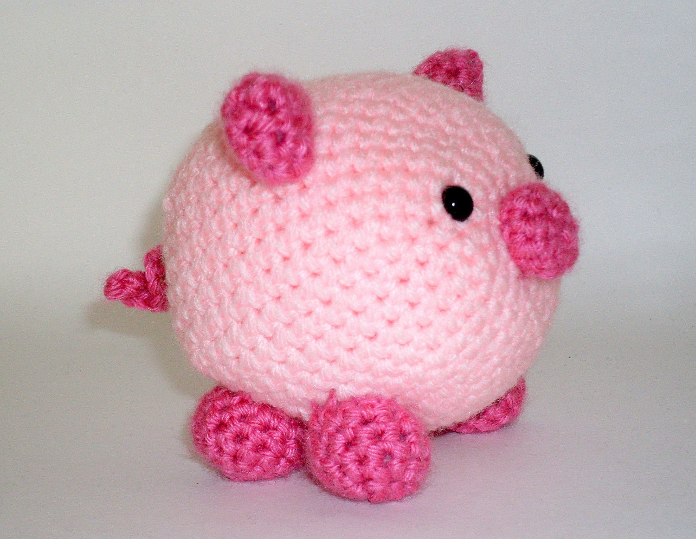 Amigurumi Pig : Stuffed Animal Pig Crochet Amigurumi Pink