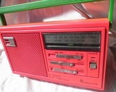 Panasonic AM/FM Radio RE-559 bright hot neon pink orange green repaint