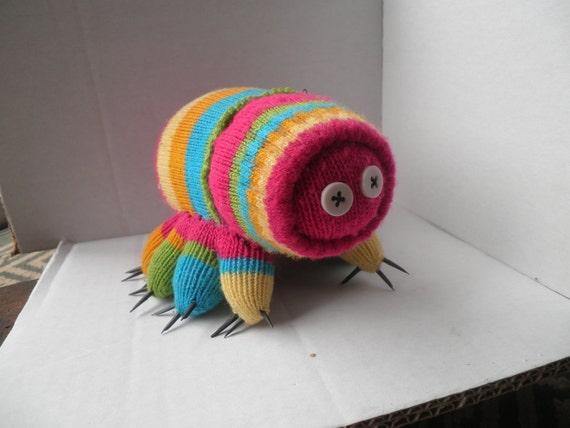 Sock doll Tardigrade - Waterbear - NOT a toy, has some evil feet