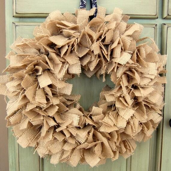 Make Burlap Make Burlap Rag Wreath