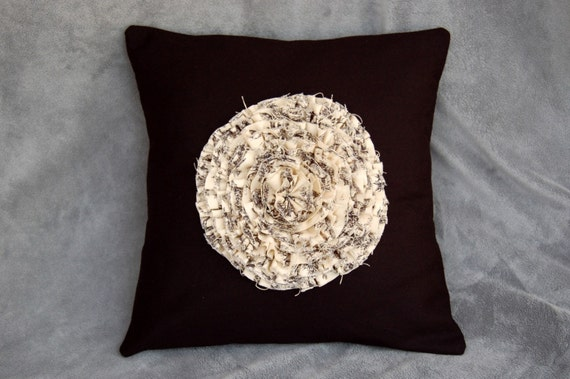 Ready Made Decorative Pillow Covers : Ready To Ship: 12 Inch Black Throw Pillow by TheSimpleStandard