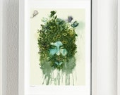 Supernature Green Man - Art Print of illustration 21x29.7cm (A4) - JimmyTan