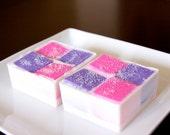 Sugar Scrub - Pink Grapefruit Sugar Scrub Embedded- Goat Milk soap