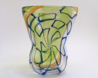 Blue Murrine Vase on Reverse Axis