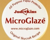 SAMPLE SIZE  Jar Judi Kins Micro glaze .15oz. Protector to Seal Photos and artwork when using resin or any adhesive