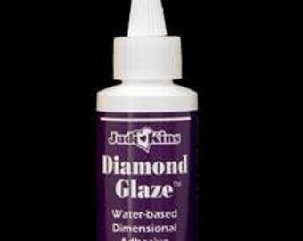 2 oz Diamond Glaze (Resin Like doming adhesive) by judikins-The perfect Adhesive / glue for Jewelry Making