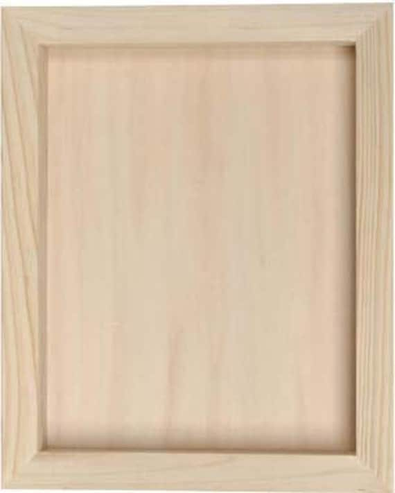 Wood Box Frame : Unfinished Wooden Shadow box frames 8 1/2 x11 (2 1/4 inch deep)