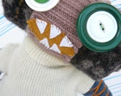 Boy Monster Doll, Monster Toy made from upcycled sweaters eco-friendly