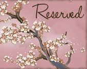 RESERVED listing for Tiffany