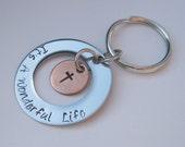 Hand Stamped Jewelry - Its A Wonderful Life - Key Chain - Personalized Jewelry