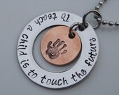 Hand Stamped Jewelry - Teacher Necklace - Nanny Necklace - Personalized Jewelry