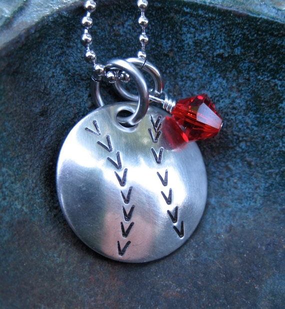 Items similar to hand stamped jewelry cardinals for How to make hand stamped jewelry