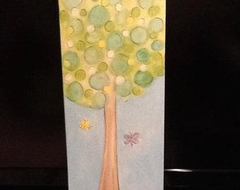 Elsie's Tree- 10 x 30 canvas original painting