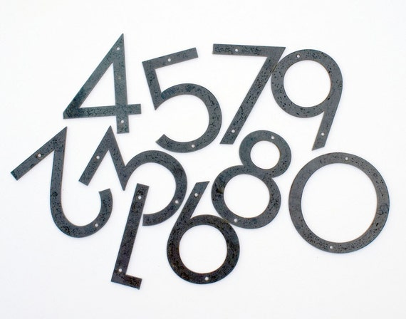 Modern font numbers modern house numbers neutra
