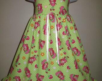 STRAWBERRY SHORTCAKE Dress 3m 6m 9m 12m 18m 24m 2t 3t 4t 5t 6yr SarahsRainbow