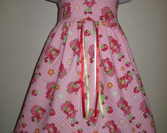 STRAWBERRY SHORTCAKE Dress 3m 6m 9m 12m 18m 24m 2t 3t 4t 5t 6yr SarahsRainbow