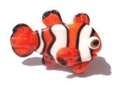 Glass lampwork fish  NEMO bead