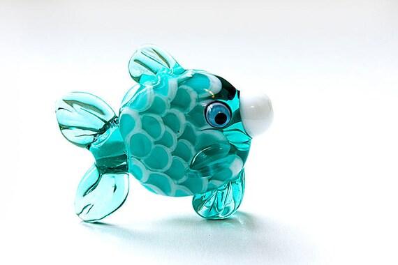 Glass lampwork fish bead