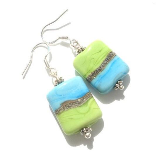 Nuggets glass lampwork earrings