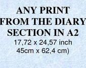 """Any print from the """"Diary"""" Section in A2 - 16,40"""" x 23,39"""" (42cm x 59,4 cm)"""