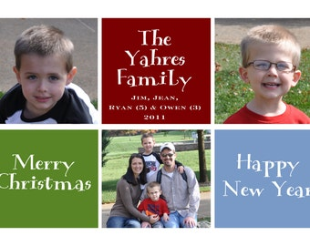 Holiday Card:  Six Square
