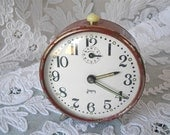 DISCOUNT of 15 % to 31 august 2012. Enter the code promo: HOLIDAYS2012   French Vintage Red Alarm Clock Shabby Chic