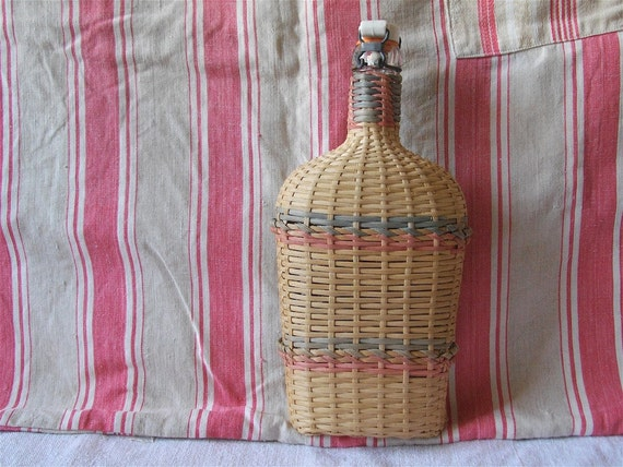 DISCOUNT of 15 % to 31 august 2012. Enter the code promo: HOLIDAYS2012   French vintage bottle Eau de Lourdes in wicker wrapping