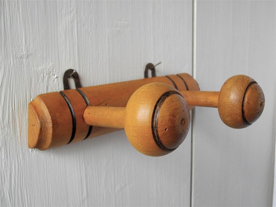 French Antique Wooden Coat Rack