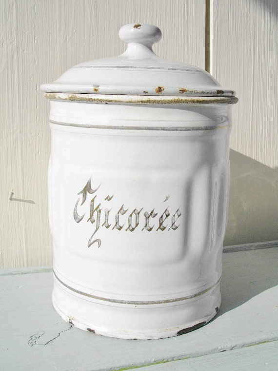 vintage french enamel white shabby chic - Christmas gift