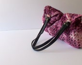 Christmas gift-Purple crochet tote bag,Crochet Handbag - handmade bag Bag-Purple Bag--Crochet Granny Square,eco mothers day