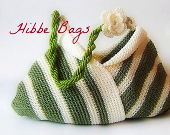 Hobo bag-Crochet shoulder bag--Shoulder Bag, Gift Under 100, Valentines Day.love charm
