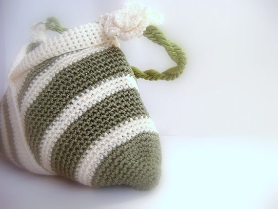 Crochet green bag-Daily and summer special design stylish bags-Vegan-Everyday Bag-Holiday Accessories