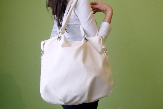 New Hobo Bag , Shoulder bag Everyday bag Cream with cream lining,FALL Classy Hobo Bag in cream