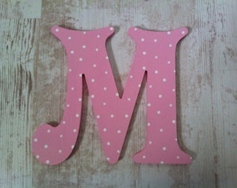 Decorative Wooden Wall Letter 'M' - 6""