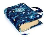 Book Cover Bag Blue Lotus Christmas gift