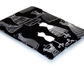 Ipad Mini sleeve, Padded Tablet Cover, DRESS FORMS, Handmade Ipad Mini Case, British Seller Only