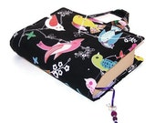 Fabric Book Bag June Song Dark - Gift for Grandparents Day