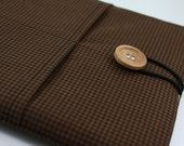 iPad Case, iPad Sleeve, iPad Cover, PADDED, with pockets for iPhone - Chocolate