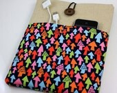 iPad Case, iPad Sleeve, iPad Cover, PADDED, with pockets for iPhone - i am with stupid