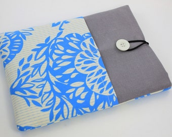 iPad Case, iPad Sleeve, iPad Cover, PADDED, with pockets for iPhone - Lucky Tree (Blue & White)