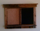SPECIAL ORDER for Lesley  Reclaimed bulletin/chalk board with hooks