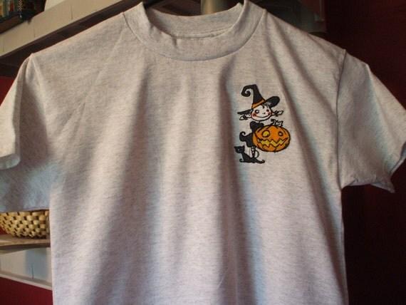 Embroidered shirt: Child's Halloween