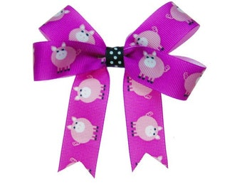 Medium Magenta Pig Hair Bow