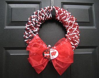 Customizable House Divided Beaded Wreath Any 2 Teams
