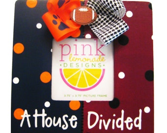 A House Divided Wood Hand Painted Custom Handpainted Picture Frame ANY two teams