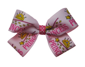Large Pink Princess Hair Bow