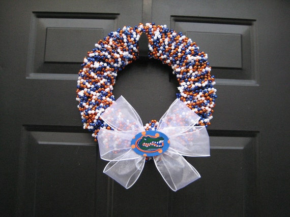 Beaded Team Colors Wreath Custom Any School